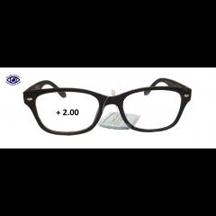 Очила за четене (SPH + 2.00) INfocus - Blue Light. Block - Black