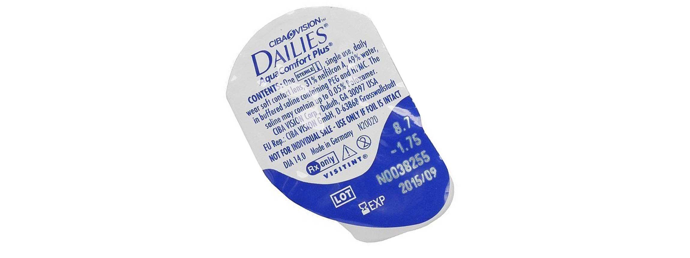 aqua soczewki jednodniowe promo dailies comforter plus comfort oryginalne szt
